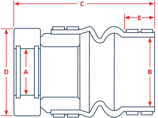 PSS Rudder Seal dimensions